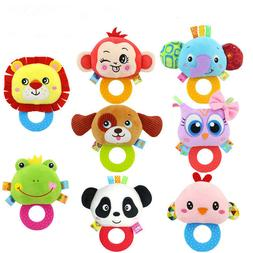 0-1 Year Old Baby Hand Rattle Teether Plush Doll Newborn bab