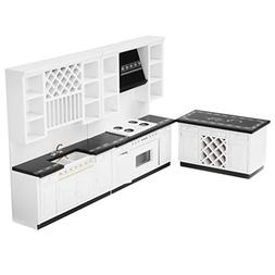 1/12 Dollhouse Miniature Furniture Delxue Kitchen Set
