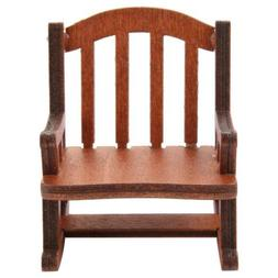 1:12 Dollhouse Miniature Furniture Wooden Rocking Chair for