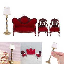 1/12 Dolls House Miniature Furniture Living Room Sofa Couch