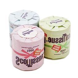 Odoria 1:12 Miniature 3PCS Toilet Paper Dollhouse Bathroom A
