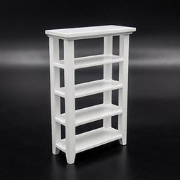 Odoria 1:12 Miniature Wooden Storage Bookshelf Display Rack