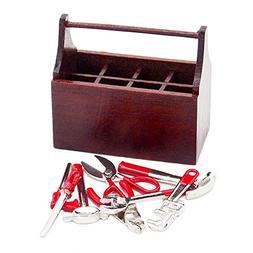 Odoria 1:12 Miniature Tool Box with 8PCS Metal Tools Set Dol