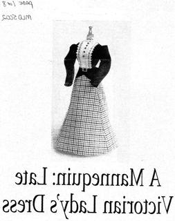 1:12 scale Dollhouse size Late Victorian Dress pattern for m