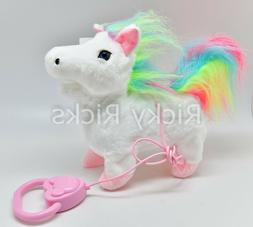 1 Walking Unicorn Horse Musical Singing Toy Plush Doll Saddl