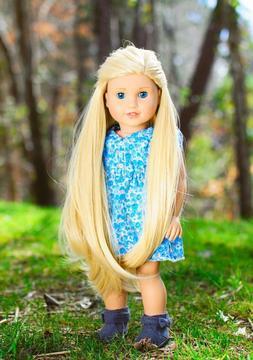 """10-11"""" Custom Doll Wig for 18"""" American Girl Doll Gotz My Li"""
