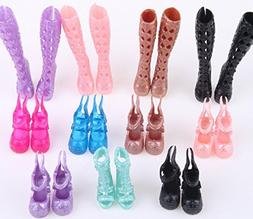 10 Pairs Fashion Shoes Accessories for Monster High doll bes