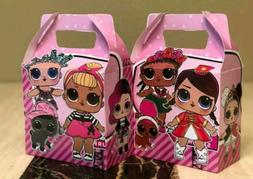 10 LOL Dolls Party Favors Treat Boxes Loot Goody Candy Bags