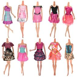 10 Pcs Party Wedding Dresses Clothes Gown For  Dolls Girls R