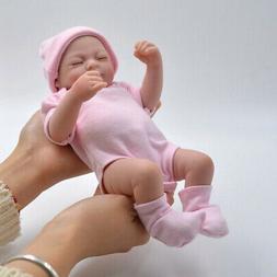 "10"" Realistic Reborn Dolls Girl Lifelike Newborn Full Vinyl"