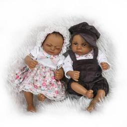 10'' Reborn Baby Dolls 2pcs Black African American Preemie S