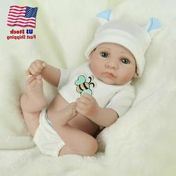 "10"" Reborn Dolls Like Real Life Newborn Baby Full Vinyl Sili"