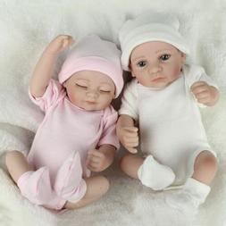 10'' Vinyl Silicone Reborn Baby Doll Girl+Boy Handmade Lifel