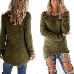 100% Safe Pullovers Autumn Winter Women's O-Neck Sweater Hed