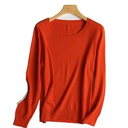 100% Safe Spring Winter O-Neck Cashmere Wool Sweater Women S