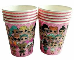 10pc. LOL SURPRISE PARTY CUPS ~ LOL SURPRISE DOLLS PARTY SUP