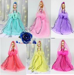 "12"" Barbie confused doll Princess Multi Colour Wedding dress"