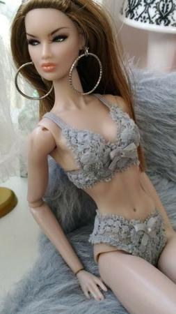 12 inch fashion doll lingerie set  fits all nuface, Fr,fr2,