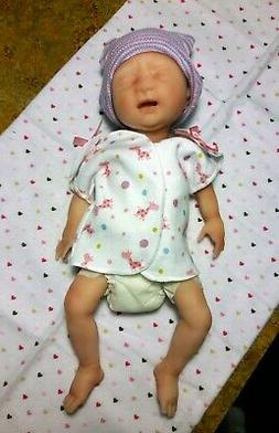 """12"""" Painted Drink & Wet Micro Preemie Full Body Silicone Bab"""