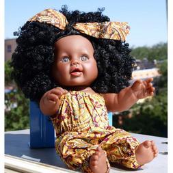12inch Reborn African American Baby Girl Doll Vinyl Newborn
