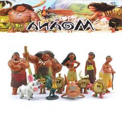 12pcs Disney Movie Moana Action Figure Dolls Princess Set To
