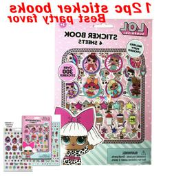 12pcs LOL Surprise Sticker Book with Puffy Stickers Party Fa
