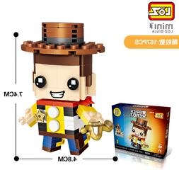1444 Woody LOZ Mini Blocks BRICK HEADZ Building Toys Dolls K