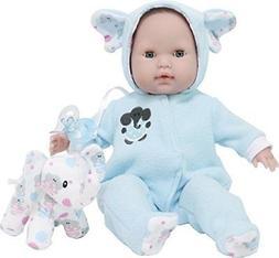 "JC Toys 15"" Berenguer Boutique Blue Soft Body Baby Doll w El"