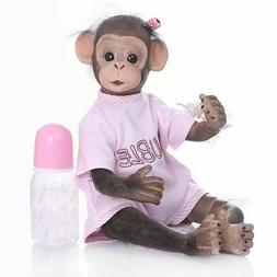"16"" Full Body Reborn Baby Handmade Monkey Girl Doll Silicone"