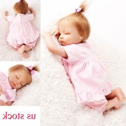 "16"" Newborn Silicone Lifelike  Girl Doll Real Like Vinyl Gir"