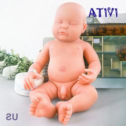 IVITA 18.5'' Full Body Soft Silicone Reborn Baby BOY Real Do