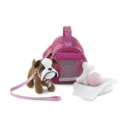 18 Inch Doll Accessories | Doll Puppy Set - Pet Carrier and