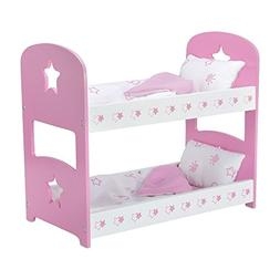 18 Inch Doll Furniture | Lovely Pink and White Bunk Bed, Inc