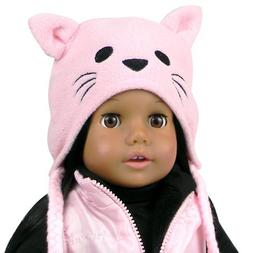 18 Inch Doll Hat w/Cat Face, Animal Hat Fits 18 Inch America