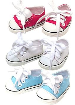 18 Inch Doll Sneakers. Sneaker Set to fit American Girl Doll