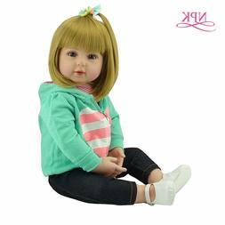 "18"" Doll Reborn Soft Touch Silicone Reborn Baby Dolls Vinyl"