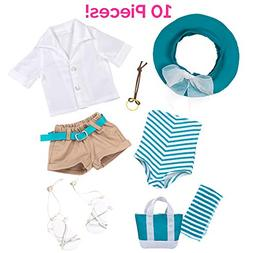 "Adora Amazing Girls 18"" Doll Clothes – Summer Swim Outfi"