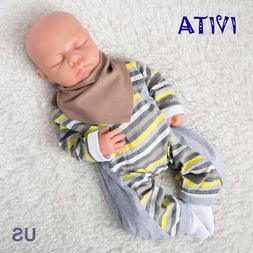 18'' Full Body Silicone Reborn Baby Girl Dolls Eyes Closed S