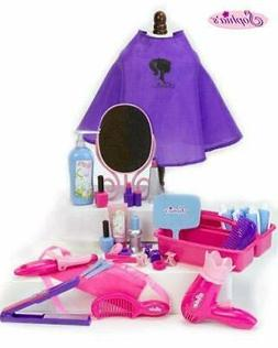 18 Inch Doll Pretend Play Hair Salon 34 Pc. Play Set by Soph