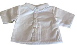 18 inch Doll White Button Front Shirt - Blouse for American