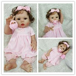 "18"" Reborn Baby Doll Full Soft Body Silicone Vinyl Newborn T"