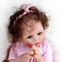 18'' Reborn Toddler Dolls Real life Cute Baby Silicone Lifel