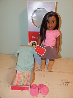 "American Girl 18"" Truly Me #47 Doll Dark Skin Long Dark Brow"