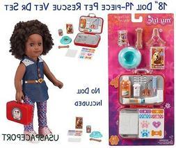 """19-pcs 18"""" Doll PET RESCUE SET Vet Dr Bag Case for My Life"""