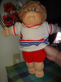 1982 vintage Cabbage Patch Kids Dolls SAILOR BLONDE HAIR BLU
