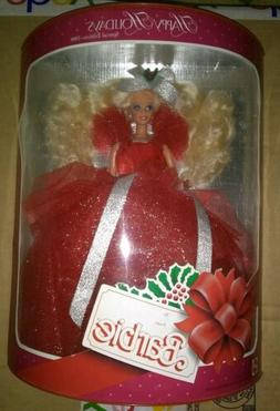 1988 Happy Holidays Barbie Doll Special Edition Red UNOPENED