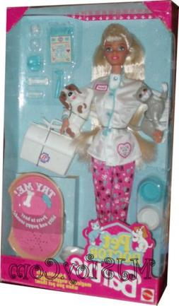 1996 Barbie Pet Doctor with dogs and cat