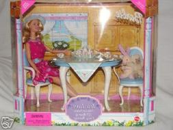 1999 Barbie Doll Tea Time gift set with her friends, lil bea