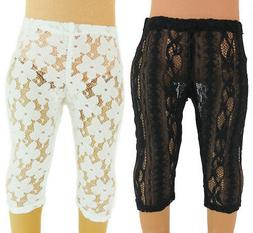 2 Pair of Lace Leggings Black & White  18'' dolls by  Americ