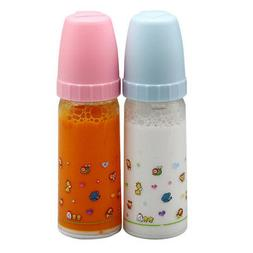 2 PCS The New York Doll Collection Magic Juice & Milk Bottle